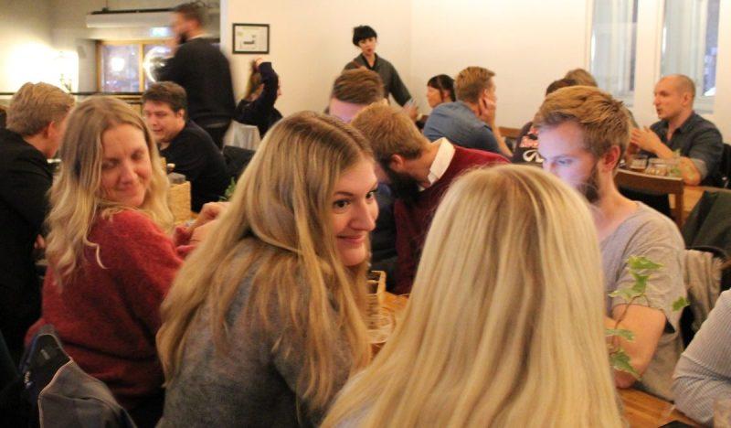 Fanny, TopVisible, och Elisabeth, Golvpoolen, på SEO-snack Öresund